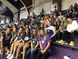 BVHS Volleyball attending a KSU Volleyball game.