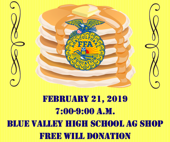 FFA Community Pancake Feed TOMORROW Morning 7am - 9am @ BV Ag Ed Center